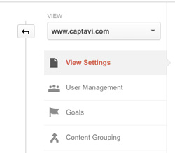 Google Analytics View Link